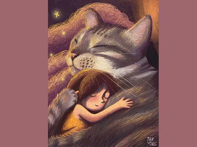 Have A Good Dream Da-phoo! illustration design artwork picturebook childrens illustration drawing painting illustration art illustration