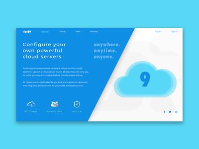 Company Cloud9 - Landing Page