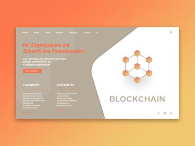 Blockchain - Landing Page