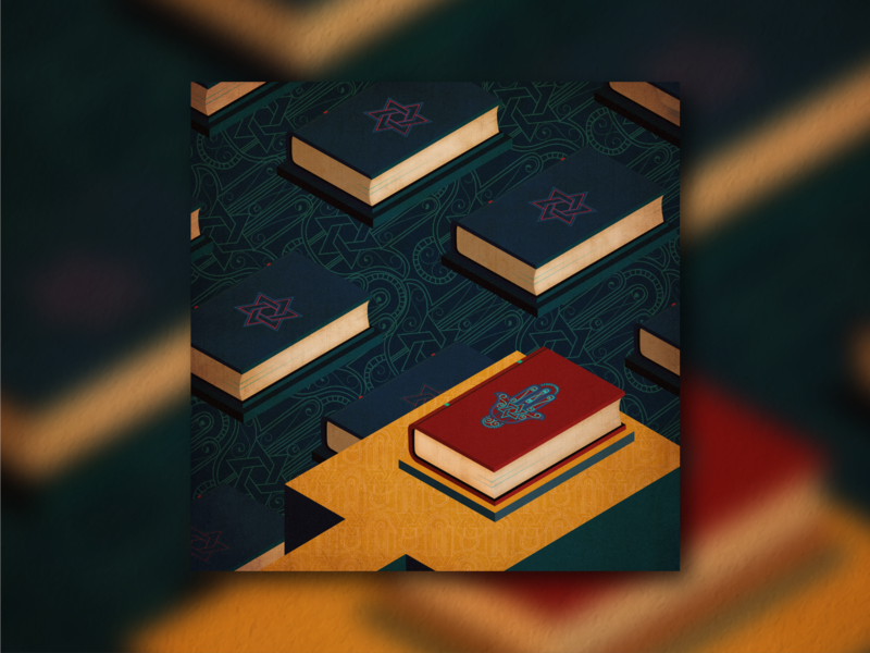 Book Ideation - #7 Tomb tomb monument valley red navy ai illustration ps book