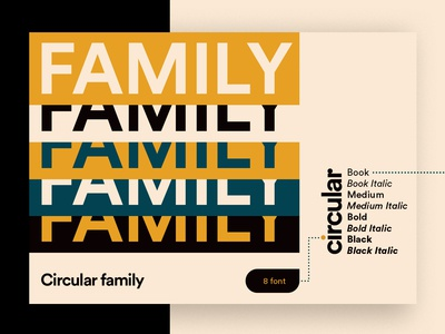 Circular Typeface Book - Family