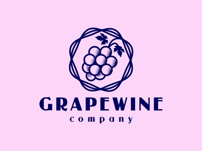Grape Wine Classic Logo logo template wine label alcoholic alcohol drink label cellar clean simple minimal classic vintage old vineyard wine grape
