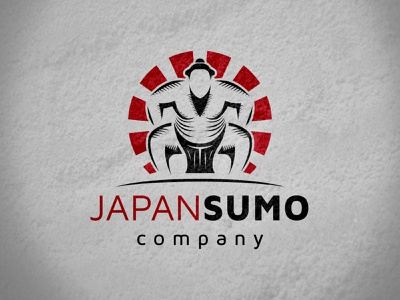 Sumo Fighter Logo fat people person human rising sun logo template logotype japanese japan karate fight club game fighting fighter sumowrestler fight sumo