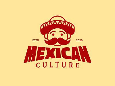 Mexican Mariachi Face Logo mexico city mexicano logotype logo template cinco de mayo mexican hat burritos nachos tacos mexican food bigote moustache dia de los muertos geek boy kid mexico mexican