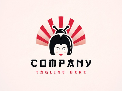 Geisha Bug Hair Logo