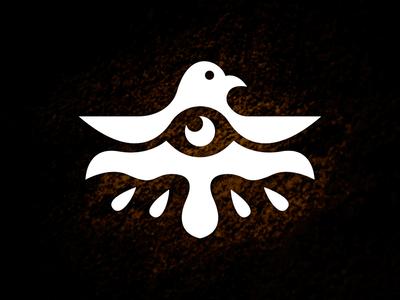 Eagle Eye Logo prehistory expressive creative design divine dove deity horus hieroglyph open wings clean design minimalist logo sight eye god logo ancient egypt petroglyph glyph bird logo eagle logo for sale logoground