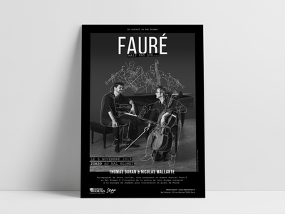 Poster for a musician Duo indesign photoshop photography poster design poster art black poster typography design illustration