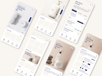 Skin Care app ui skin care shopping app shopping figma photoshop photography e-shop app app app design design