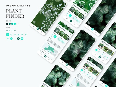 Plant finder App figma photography ui recognizer plants plant app design app