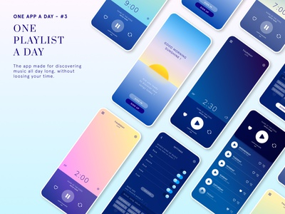 One Playlist a Day ui figma app app design