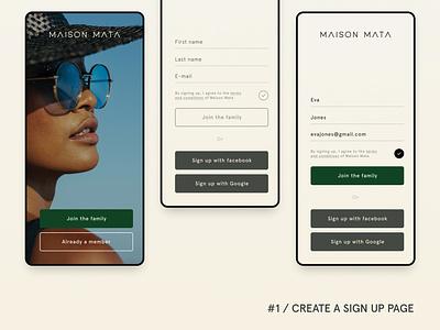 #DAILYUI 1 signup app design uidesign ui dailyui app