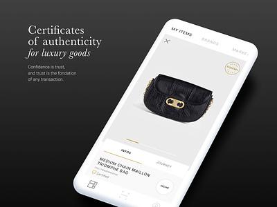 Certificates app certification luxury uxui ui design figma app design app
