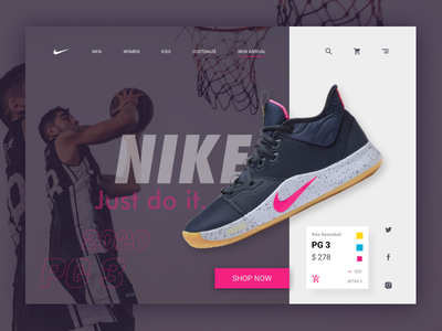 Website Exploration #1 - Nike Product Webstore uiuxdesigner webstore page landingpage ui design exploration website design webdesign website uiux ux ui