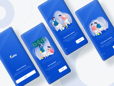 Futto - Mobile App On Boarding vector app sports app onboarding illustration ux ui mobile app