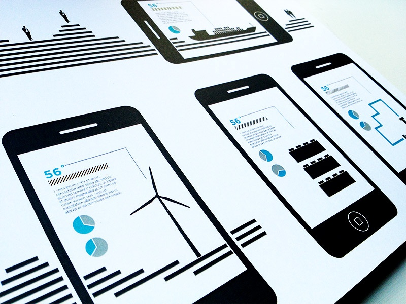 Augmented Reality vector storyboard illustrations motion graphics infographics augmented reality