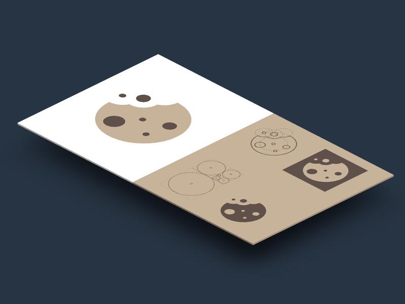 Golden Cookie icon golden ration web apple