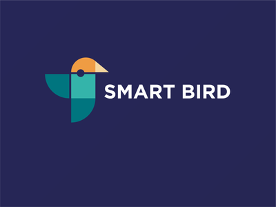 Smart B bird vector illustration identity logo branding