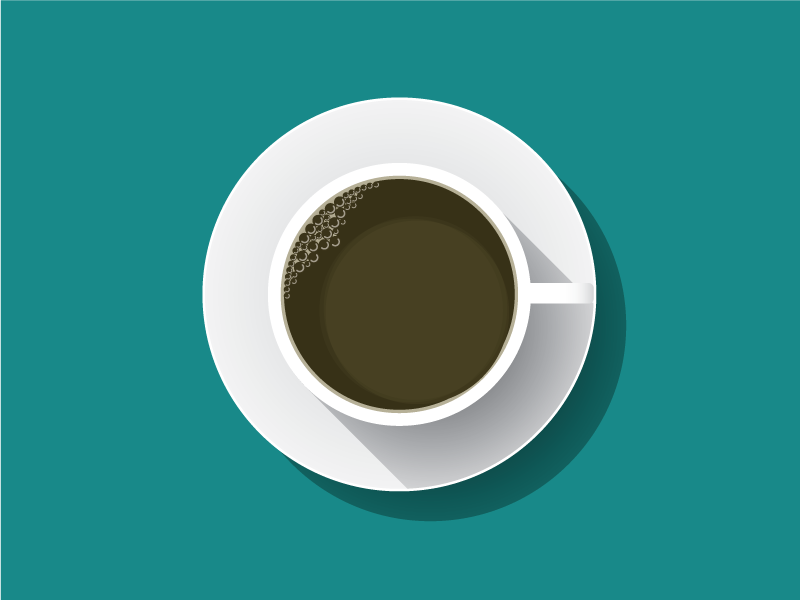 Creative Fuel icon flat coffee