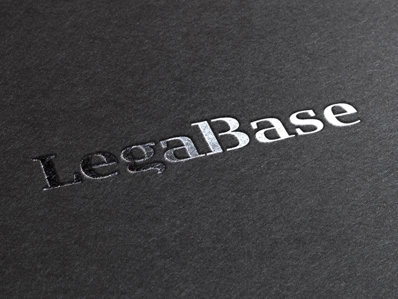 LegalBase black silver logo identity