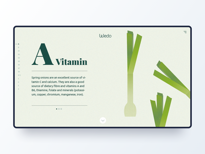 Wedo vitamin A greens clean ux ui illustration web identity
