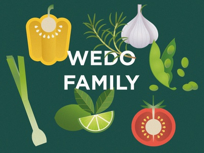 Wedo family vector branding design illustrator illustration identity