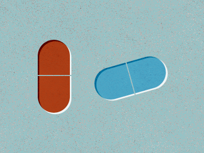 Red Pill, Blue Pill pill texture