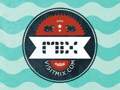 MIX Online illustrator waves badge seal lobster cabin mix online