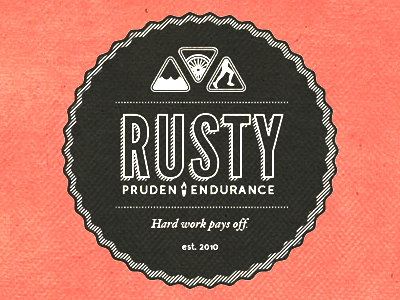 Rusty Seal rusty swim bike run torch texture vintage paper red black faded league gothic junction hoefler text