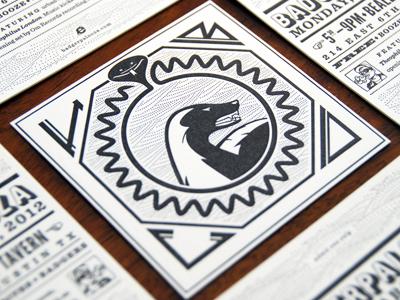 Letterpress Coasters/Tickets lettering coasters letterpress patterns snake badger palooza honey badger