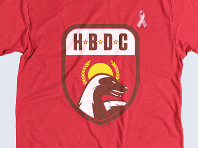 HBDC on United Pixel Workers red hbdc badger heather yellow sun soviet stars illustration united pixel workers honey badger operation condor