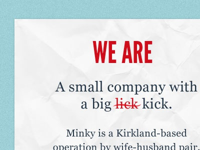 We are minky georgia teal league gothic so close typography