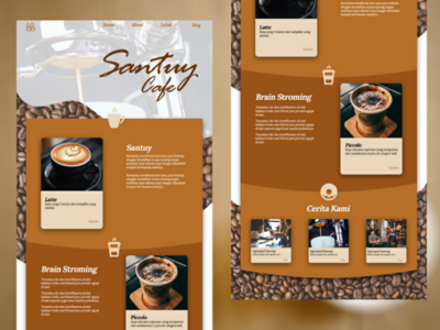Santuy cafe web design