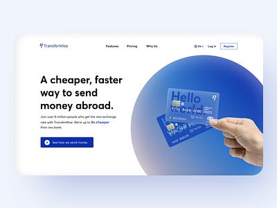 TransferWise - Online Money Transfer logo illustration concept bank ui bank logo banking bank card bank app ux ui
