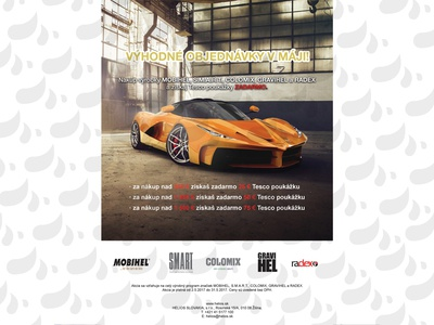 poster for auto cosmetics retailer