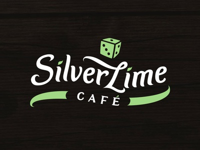 Silver Lime Cafe Hand-lettered Logo