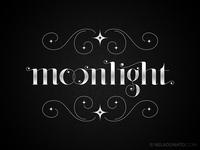 Moonlight hand lettering