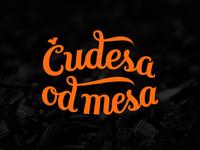 Čudesa od mesa hand-lettered logo