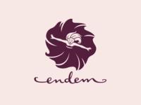 Endem hand-lettered fashion logo design