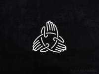 Hands Triquetra Knot Logo
