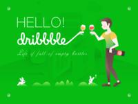 HELLO!DRIBBBLE!