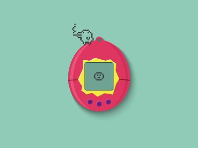 Tamagotchi vector illustration design 90s tamagotchi