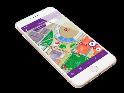 Sydney Royal EasterShow - Digital WayFinding mobile app map mobileux mobileui illustration digital map custom maps custom map mapping walking navigation navigation digital wayfinding digitalart digital wayfinding