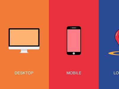 Set of visual to show multi-channel phone digital design mobileapps photoshop phonemock vector startup illustration dashboard ui digital map design digital