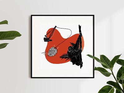 Anthropocene, illustrated — Palm oil procreate prints nature illustration anthropocene animals illustrated animals nature design illustration biodiversity sustainability