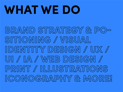 What we do brand identity typography sustainability earth-friendly designer