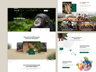 Zoo website concept design biodiversity ui environment conservation animals zoo landing page webdesign