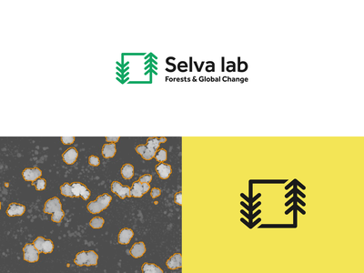 Selva lab logo trees climate designer climate change statistics forest ecology research science branding logo brand identity