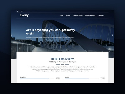 J51 Everly - A Joomla Template