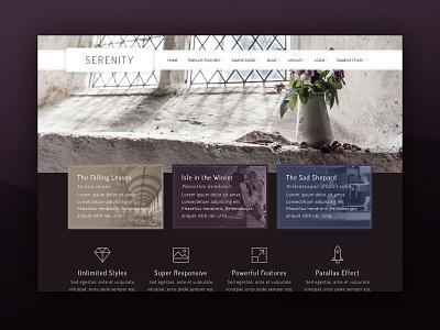 J51 Serenity - A Joomla Template joomla templates purple template wedding web design webdesign theme joomla template joomla