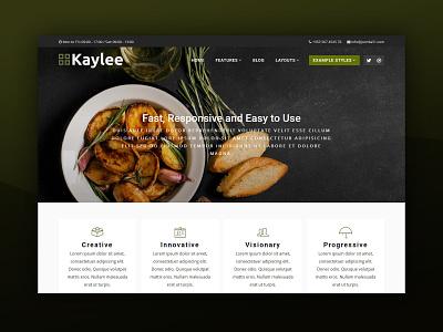 J51 Kaylee - A Joomla Template cafe restaurant food web design template design webdesign joomla templates joomla template joomla